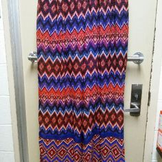 Palazzo Pants Multicolored, zig zag patterned, palazzos that add a little Bohemian chic to your closet. They have never been worn. All threads are in place. They have a really loose and comfortable fit. The way they drape your body create a curvy illusion. Perfect for an outdoors party, maybe with a bon fire and a sandy sea side. They are also great for those days when you just want to be fabulous. Happy Poshing! Cato Pants Wide Leg