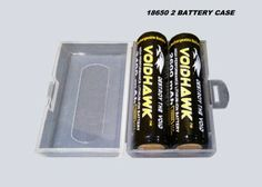 STORAGE AND CARRY CASE FOR 2 18650 BATTERIES.  BATTERIES NOT INCLUDED.
