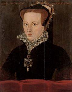 Portrait of Queen Mary I (aka Bloody Mary) French History, Tudor History, British History, Uk History, Fashion History, Ancient History, Mary I Of England, Queen Of England, Queen Mary