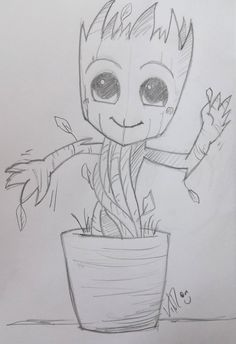 I'm (baby) groot! #art #groot #scketch #scketbook #draw #guadiansofthegalaxy