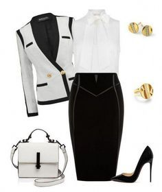 Fall Fashion trend - Black and white fashion outfit. Source by SirenaSana outfits Business Fashion, Business Outfits, Business Attire, Business Casual, Business Professional, Classy Outfits, Chic Outfits, Fashion Outfits, Womens Fashion