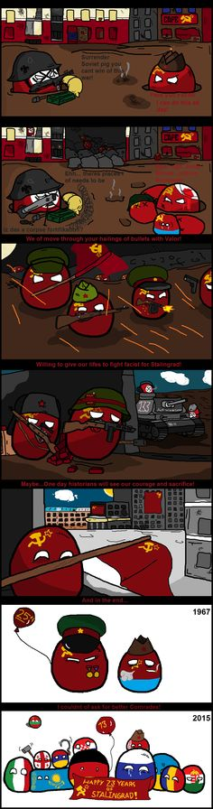 Happy 73 Years of Stalingrad! ( Germany, Russia ) by Ithicus  #polandball #countryball