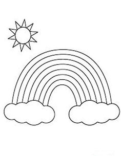 Coloring Page 2018 for Arcoiris Dibujo Para Colorear, you can see Arcoiris Dibujo Para Colorear and more pictures for Coloring Page 2018 at Children Coloring. Free Coloring Pages, Coloring For Kids, Printable Coloring Pages, Coloring Books, Art Drawings For Kids, Drawing For Kids, Bible For Kids, Art For Kids, Flower Outline