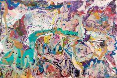 Lana Gomez Art | Imaginary Fairy | Acrylic, mixed media - 48  x 72in