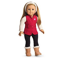 American Girl® : Sporty Winter Outfit for Dolls + Charm ~ $34 American Girl