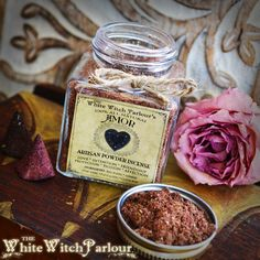 AMOR Powder Incense. All Natural. Love by WhiteWitchParlour 'AMOR' is a sharp spicey floral scent, made from my artisan blend of red roses, Jasmine flowers, Star Anise, Clove bud and Palo Santo resin, blessed by Rose Quartz for help in love matters, self appreciation, friendship, relationship protection, passion & affection. Love is the most powerful gift we can give anything & this is my gift to you.