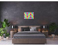 Metaphysical Decor & Design by ArtekFatuek on Etsy Art Above Bed, Above Bed Decor, Peaceful Bedroom, Large Wall Art, Large Canvas, Luxury Decor, Bedroom Art, Sofa Set, Home Decor Items