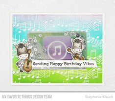 Stamps: Jungle Vibes, Musical Notes Background Die-namics: Jungle Vibes, Gift Card Window & Frame Stephanie Klauck #mftstamps