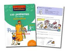 RECURSOS PRIMARIA | 110 problemas de Matemáticas para 1º de Primaria ~ La Eduteca