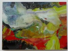 Gerhardt Richter painter layering on plexiglass