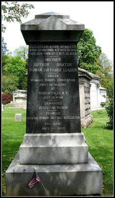 The final resting place of Elizabeth Cady Stanton
