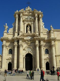The Duomo in Siracusa. Sicily