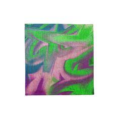 4 Stoffservietten flashyLeinenlook bunt abstrakt