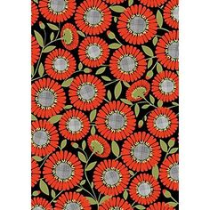 Persimmon Daisy Wrapping Paper... ^^ I dont know why I would need this, but I cant scroll past this again.