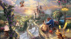 Thomas Kinkade Disney | Картинки Thomas kinkade, the disney dreams collection, beauty ...