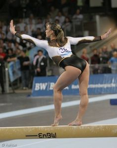 """Such a magnificent image of poise, elegance and balance.and this lady looking sexy in a Lycra leotard, whilst beginning her """"I'm a little teapot."""", routine on the balance is also elegant poise too. Amazing Gymnastics, Gymnastics Pictures, Artistic Gymnastics, Olympic Gymnastics, Gymnastics Girls, Sports Pictures, Gymnastics Leotards, Gymnastics Flexibility, Female Gymnast"""