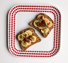 PB and goji berry toast by A Lady Goes West