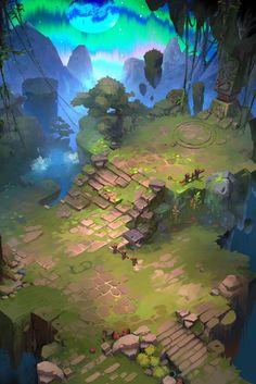 Game art 435441857719118904 - — Share via Artstation iOS App, Artstation © 2016 Source by Game Level Design, Game Design, 2d Game Art, Video Game Art, Environment Concept Art, Environment Design, Game Environment, Fantasy Landscape, Landscape Art