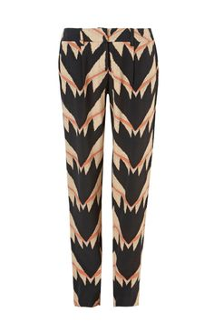 THE SMILEY - classic narrow leg tailored printed pant in a sass & bide exclusive print. model is wearing size 38.