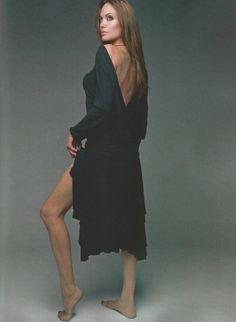 Angelina Jolie in Elle France. I love the dress.