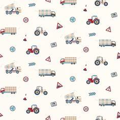 Tractors and trucks wallpaper | Laura Ashley