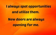 #Affirmations #Opportunities