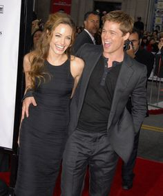 See Brad Pitt and Angelina Jolie's Hottest PDA Moments: Brad Pitt and Angelina Jolie let loose at the June 2007 LA premiere of his buddy flick Ocean's Thirteen.