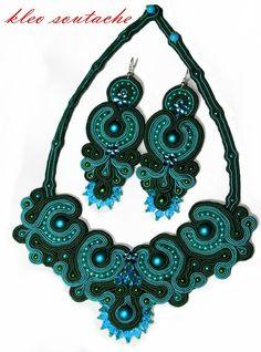 Sutasz Kleo /Soutache jewellery: naszyjnik/necklace