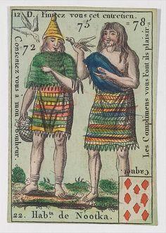 Hab.t de Nootka from Playing Cards (for Quartets) 'Costumes des Peuples Étrangers'