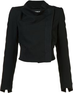 Ann Demeulemeester cropped biker jacket | #Chic Only #Glamour Always