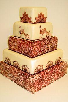 Henna Tattoo Wedding Cake...OMG, gorgeous