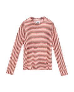 ELSA - Long sleeve crew neck - Red Stripe Elsa, Crew Neck, Denim, Long Sleeve, Model, Sleeves, Red, How To Wear, Collection