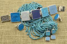 :D❤️blue | fiestaware bracelet