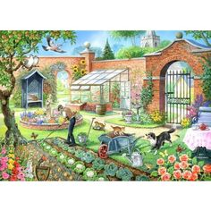 Kitchen Garden Jigsaw Puzzle from Jigsaw Puzzles Direct - Order today and Get Free Delivery