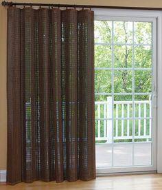 Banded Bamboo Panel - Family room sliding glass door