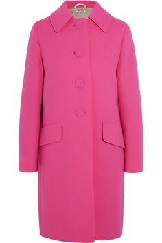 MIU MIU Wool-Crepe Coat. #miumiu #cloth #coats