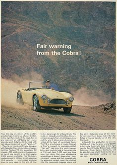 Ford Shelby AC/Cobra, 1962