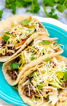 These Ground Beef Tacos, in soft corn tortillas, are so flavorful, delicious, an. Soft Taco Recipe Ground Beef, Soft Taco Shell Recipe, Ground Beef Tacos, Healthy Taco Recipes, Chicken Taco Recipes, Mexican Food Recipes, Beef Recipes, Mexican Dishes, Healthy Food
