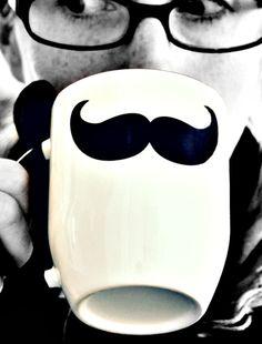 Weiteres - Männergeschenk - Löffel- TASSE - Mr. Mustache - ein Designerstück von jolijou bei DaWanda