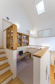 Modern small home office gaming organization Home Room Design, Home Interior Design, Interior Architecture, House Design, Japanese Interior, Tiny Spaces, Japanese House, Staircase Design, House Rooms
