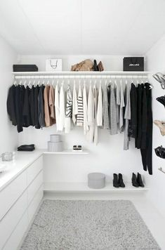 I would love a minimalist wardrobe like this. Unfortunately, I wear too much color. And I complain a lot that I don't have anything to wear. Go figure! #NotAMinimalist
