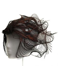 laser cut wood headpiece - hat - millinery by 26 yr old Emma Yeo