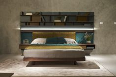 Fimes, Salone del Mobile 2017, Milano #bed #nightstand #bedroom #closet #slidingdoors #leafdoors #interiordesign #design #modern #contemporary #madeinitaly #salonedelmobile #fieradelmobile #isaloni #fieramilano #luxury #glamour #artdeco #fimes #fieramilano2017 #ilsalonedelmobile2017 #milanodesignweek2017