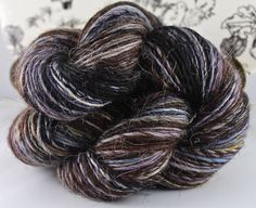 Handspun Yarn Gently Thick and Thin Fine Sport Single Alpaca and Silk 'Gloaming' by SheepingBeauty on Etsy