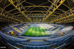 The Signal Iduna Park prior to the Bundesliga match between Borussia Dortmund and FC Schalke 04 at Signal Iduna Park on October 29, 2016 in Dortmund, Germany.