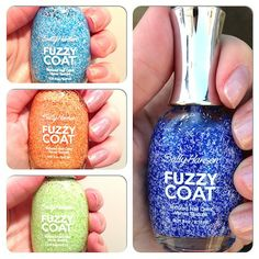 . Textured Nail Polish, Fuzzy Coat, 2014 Trends, Sally Hansen, Swatch, It Is Finished, Nail Art, Nails, Fabric