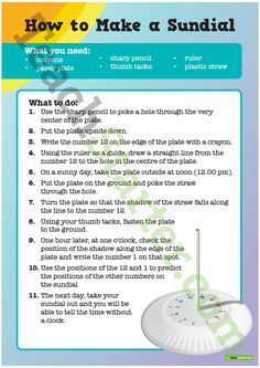 Decimal Worksheets Grade 5 Pdf Make Your Own Sundial  Sundial Worksheets And Activities Step Two Worksheet Pdf with Medial Sounds Worksheets Word Sun And Moon Effects  How To Make A Sundial Worksheet Teaching Resource How Does A Monthly Budget Worksheet Help You Excel