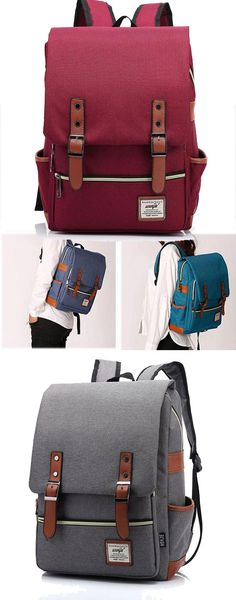 Vintage Canvas Travel Backpack Leisure Backpack&Schoolbag for big sale! #backpack #school #college #bag #leisure #travel #canvas #lady