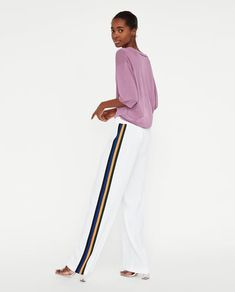 STRIPED ATHLETIC TROUSERS