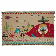 Kinderteppich aus Baumwolle mehrfarbig 120 x 180 cm FARWEST